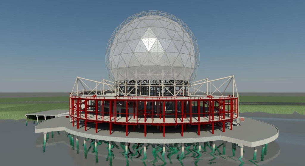 3 - Science World 3D Rendered View from False Creek