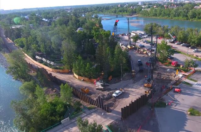 Flashback: Saving the Calgary Zoo | Piling Industry Canada